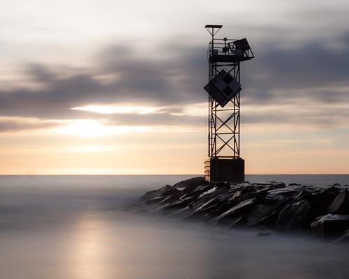 oceancityinletjetty le longexposure sunrise silky