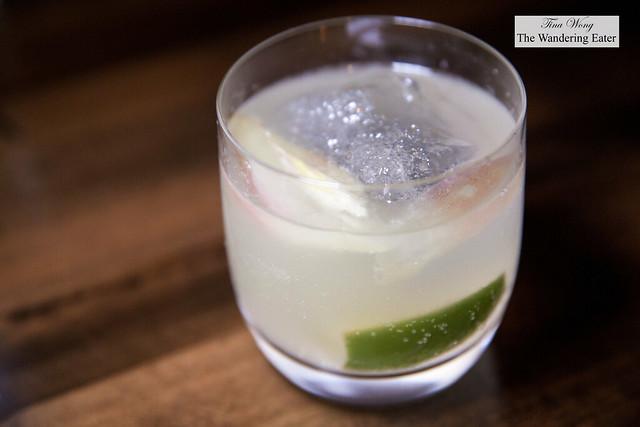 Myoga (ginger), vodka, sudachi, ginger beer cocktail