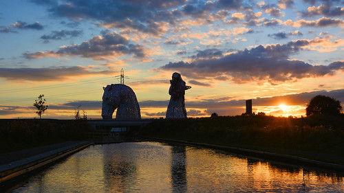 thekelpies kelpies sunset scotland scottish scottishscenery scenery outdoor