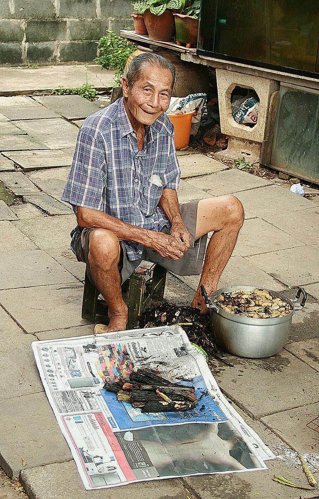 grandpa and his bamboo shoots