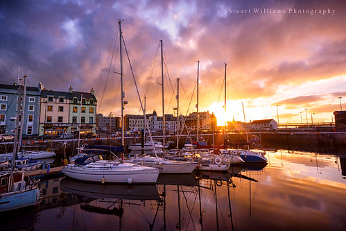 isleofman douglas sunrise dawn marina harbour boats yacht reflections