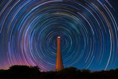 Star Trails at Guilderton Lighthouse, Western Australia