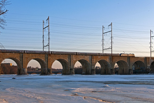 nec northeastcorridor amtrak acs64 newbrunswicknj highlandparknj raritanriverbridge raritanriver train railfan railroad