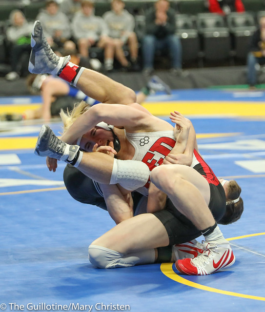 138 - Payton Anderson (Fairmont-Martin County West) over Tyler Shackle (Scott West) SV-1 6-4. 180301CMC3710