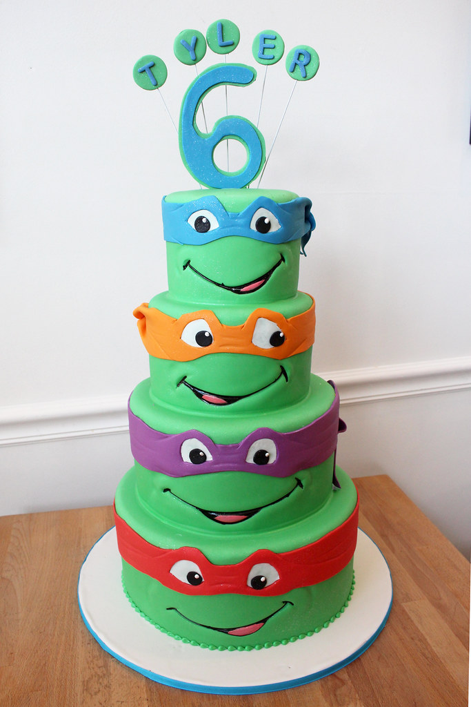 Prime Ninja Turtles Birthday Cake Oakleaf Cakes Flickr Funny Birthday Cards Online Fluifree Goldxyz