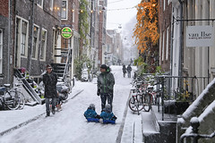The Jordaan district in the winter where daddy's meet