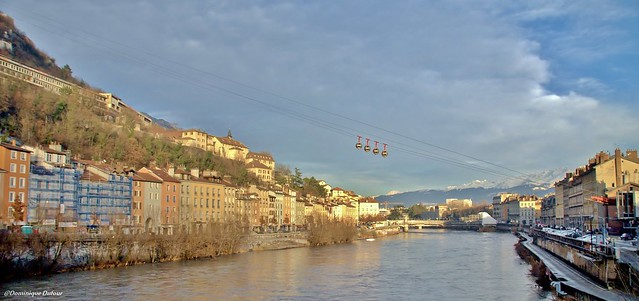 Grenoble un soir d'hiver