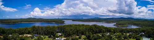 dam ewin maddock ewinmaddockdam glenview queensland australia au sunshinecoast australianlandscape lake ianfraser storm rain glasshousemountains x3 dji inspire1 drone uav rpa rpas repl