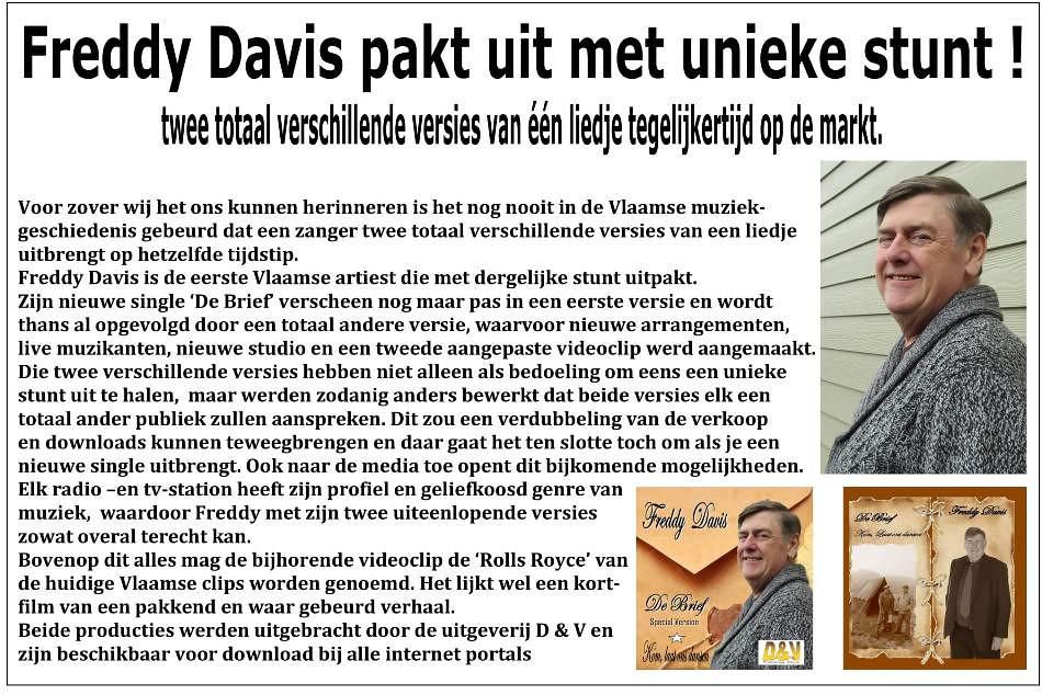 Freddy Davis De Brief special version