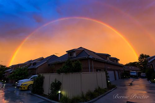summer storm rainbow sydney oxleypark newsouthwales australia au