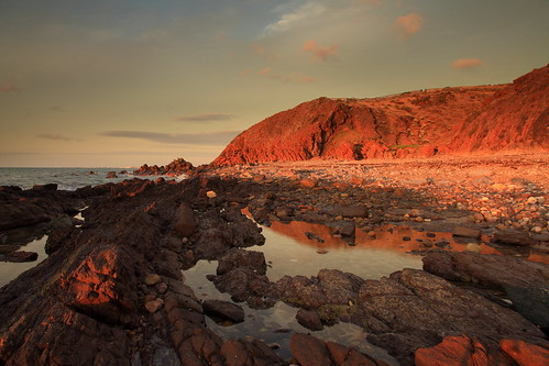 hallettcove beach ocean cliffs rocks sea adelaide southaustralia sunset evening reflection pool shore coast