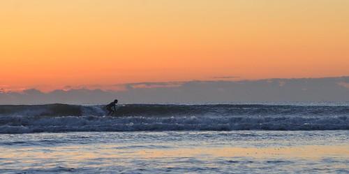 sunrise sea ocean wave surf sunset sky surfing beach chiba japan ichinomiya