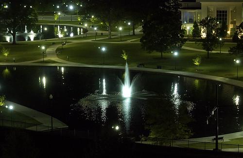 bigspringpark landscape fountain night water pond