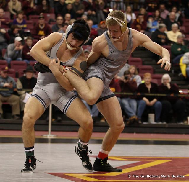 165 No. 2 Isaiah Martinez (5-0) (Illinois) dec. No. 9 Nick Wanzek (17-2) (Minnesota) 8-4. 180114AMK0169