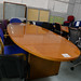 Cherry oval boardroom E300