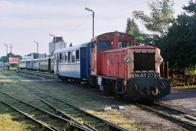 MÁV Mk48 2030 in Kecskemét KK op 6-8-2005 (SCAN)