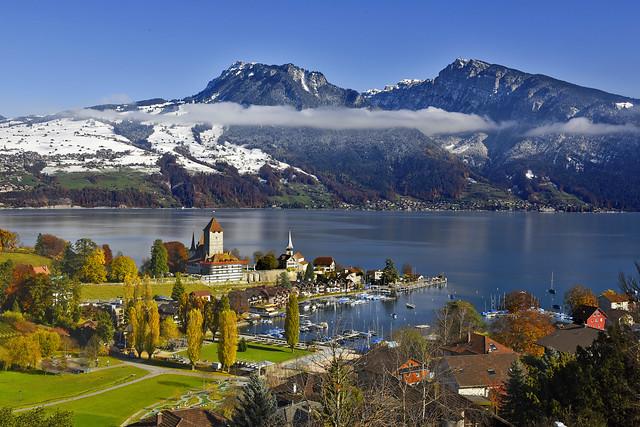 Spiez at day.15.11.17, 13:28:05.Canton of Berne, Switzerland. No. 1008 .