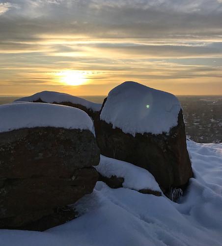 photostream sunset castlerock boise idaho snow