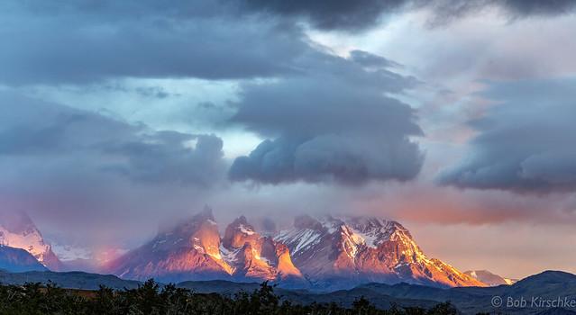 First light Patagonia