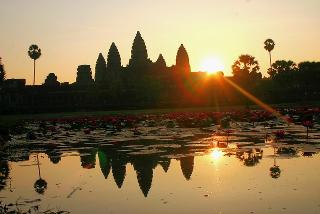 Sunrise over magnificent Angkor Wat, Cambodia.