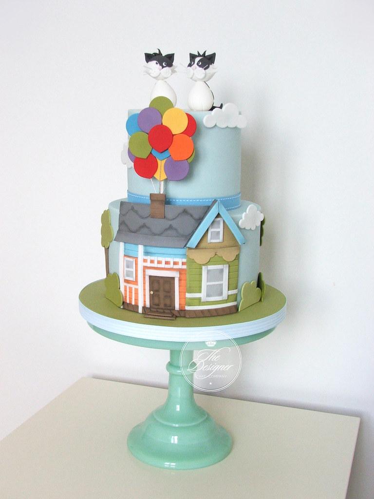 Fabulous Pixar Up Birthday Cake Isabelle Bambridge Flickr Personalised Birthday Cards Paralily Jamesorg