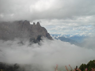 Seiser Alm in the clouds 2-9-12