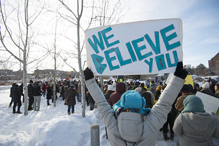 Stand with rape survivors rally | by Fibonacci Blue