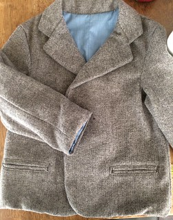 Herringbone Grey Blazer