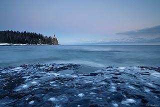 Joyeux Noel Twilight.Winter Twilight At Split Rock Lighthouse Split Rock Lighth