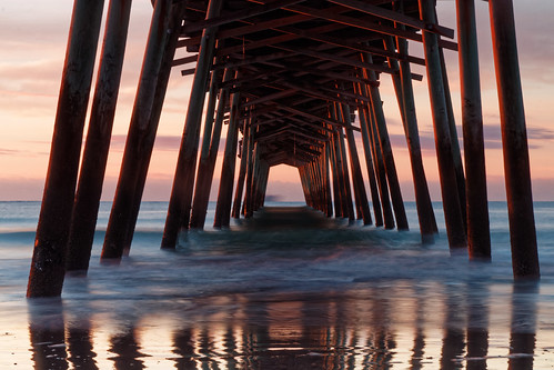 boguepier pier emeraldisle northcarolina sunrise seascape waterscape longexposure slowshutter