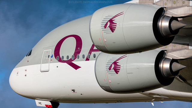 A7-APE | Airbus A380 | Qatar Airways | London Heathrow | January 2018