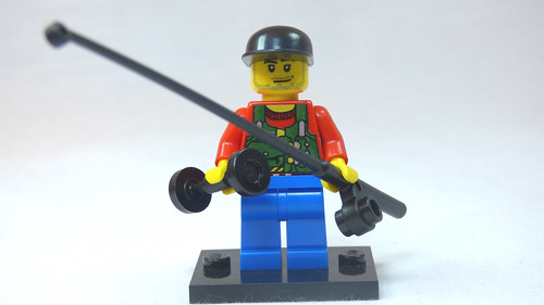 Brick Yourself Custom Lego Figure Weight Lifting Fisherman | by BrickManDan