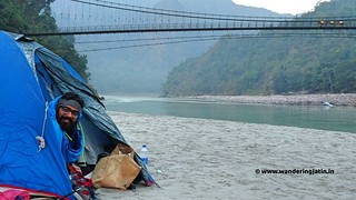Camping by the Ganges | by wanderingjatin