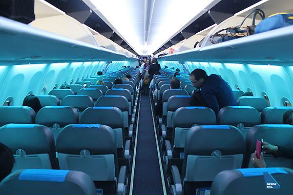 Aerolíneas Argentinas B737 MAX 8 interior (Edgardo Gimenez Mazó)