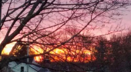 winter solstice december2017 sunrise worcester massachusetts newengland