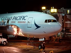 Cathay Pacific Airways Boeing 777-300ER B-KPW LAX/KLAX