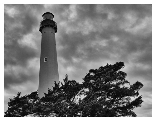 lighthouse black white grey cloud