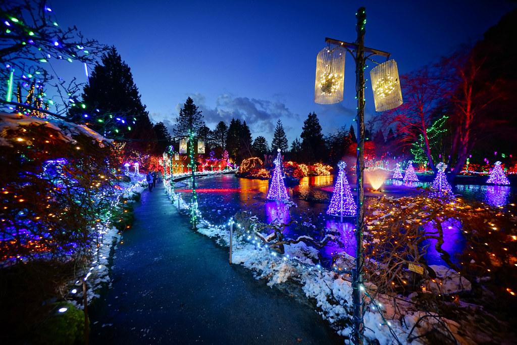 Happy Holidays Winter Wonderland At Vandusen Botanical G Flickr