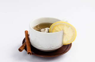 Healthy fruit tea with lemon and cinnamon | by wuestenigel
