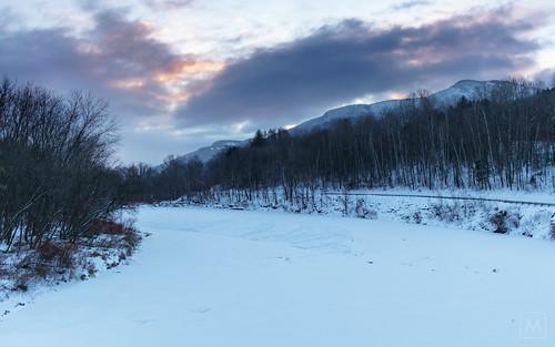 bridge winter bolton vermont unitedstates us