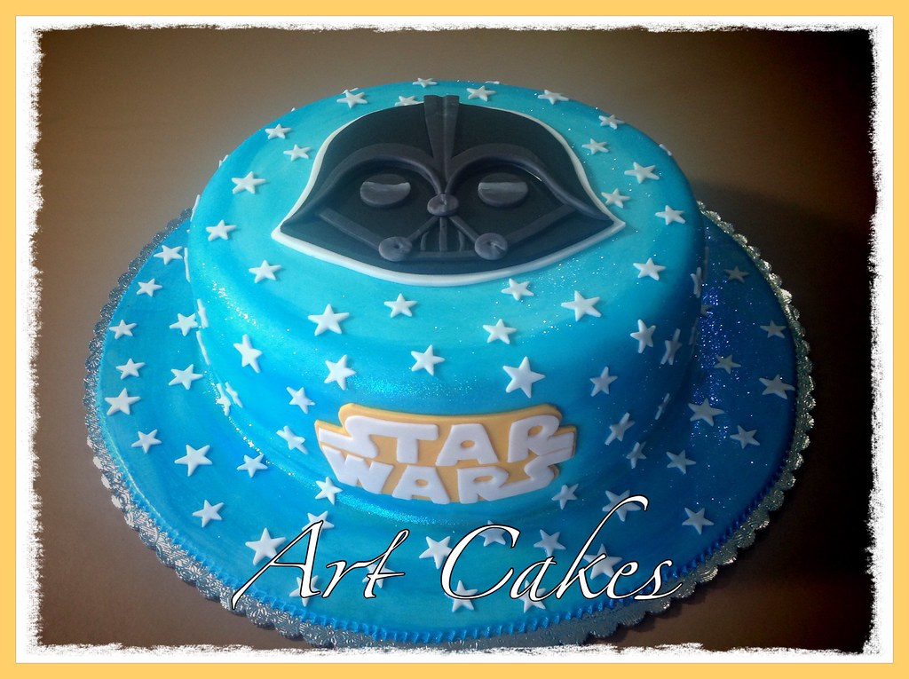 Swell Star War Birthday Cake Nora Rexach Flickr Funny Birthday Cards Online Eattedamsfinfo