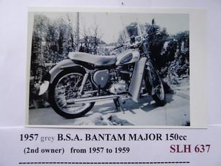 DSC01112: B.S.A. Bantam Major 150cc. SLH 637.