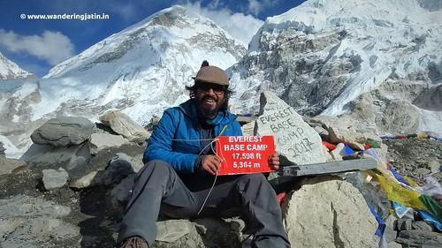 Wandering Jatin at Everest Base Camp | by wanderingjatin