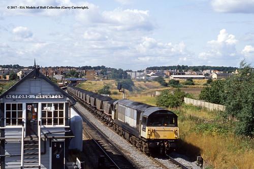 britishrail coalsector class58 58041 ratcliffepowerstation diesel freight retford thrumpton nottinghamshire train railway locomotive railroad
