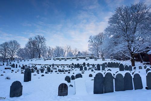 snow chelmsford graveyard sky sunrise winter