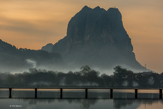 Sunrise over Kan Thar Yar Lake, Hpa-'An, Myanmar   by Phil Marion