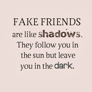 Life Quotes : Fake friends are like shadows  They follow y