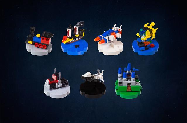 Iconic LEGO Set Christmas Ornaments