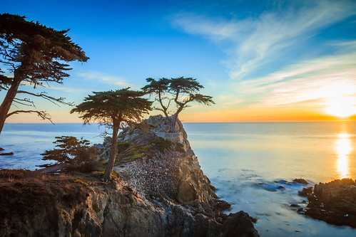 lone cypress california canon5dmkii color canon24105mmf4l coast clouds coastline carmel seascape seashore searocks sky sunset sundown sea outdoors ocean oceano outdoor naturephotography nature naturaleza