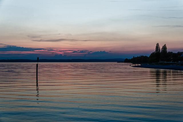 Crépuscule sur le Bodensee